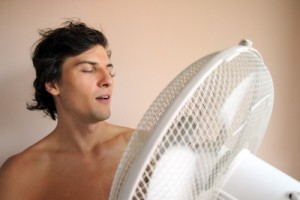 keep cool with a fan in the attic